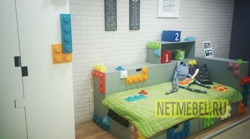 мебель в детской комнате в стиле конструктор